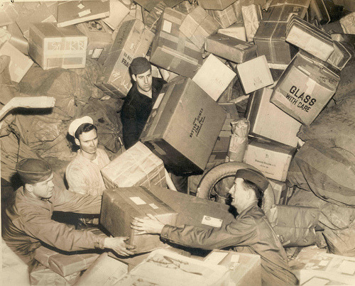 There's work to be done! U.S. Military Mail Mail - courtesy National Postal Museum