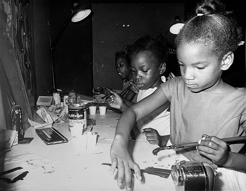 Anacostia Neighborhood Museum Youth Classes hard at (art)work - courtesy Smithsonian Institution Archives