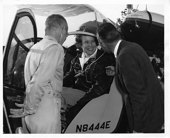 Dora Dougherty Strother setting helicopter flight records